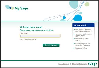 My Sage Portal Login