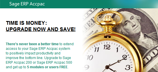 Sage ACCPAC Promotions