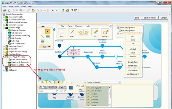 Sage 300 ERP 2012 - Visual Process Flow Configuration
