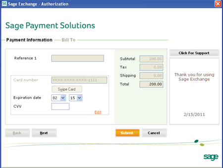 Sage Payment Solution