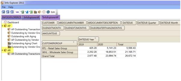 Open & Create a new query in InfoExplorer