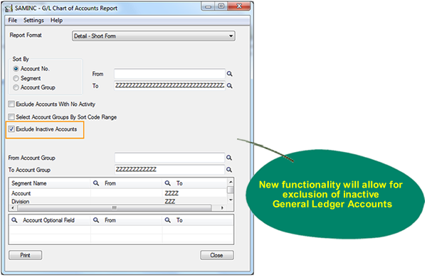 Sage 300 ERP 2012 - GL Reporting Feature Enhancement
