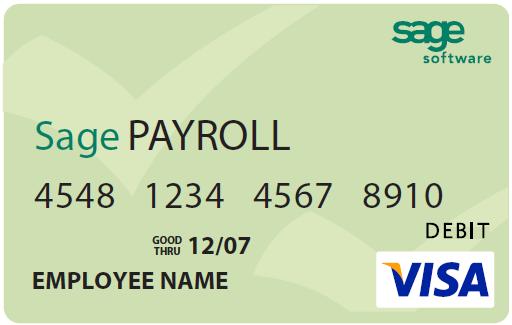 Sage Payroll PayCard