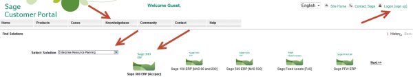 Sage Customer Portal Knowledgebase