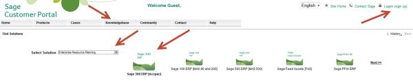 Sage Customer Portal Knowledgebase