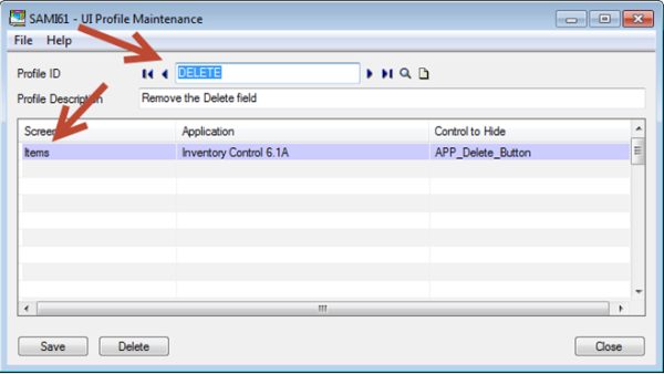 Sage 300 ERP - Profile Maintenance