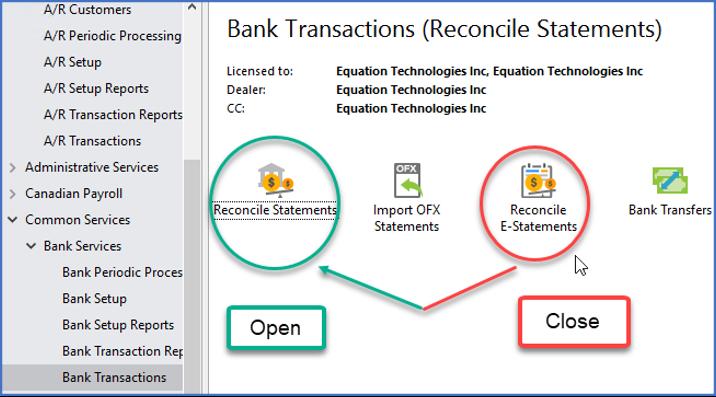 Sage 300 Accpac Bank Reconciliation Bank Feeds