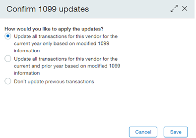 Sage Intacct 1099 Updates