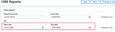 Sage Intacct 1099 Reports