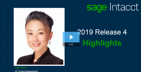 Sage Intacct 2019 Release 4