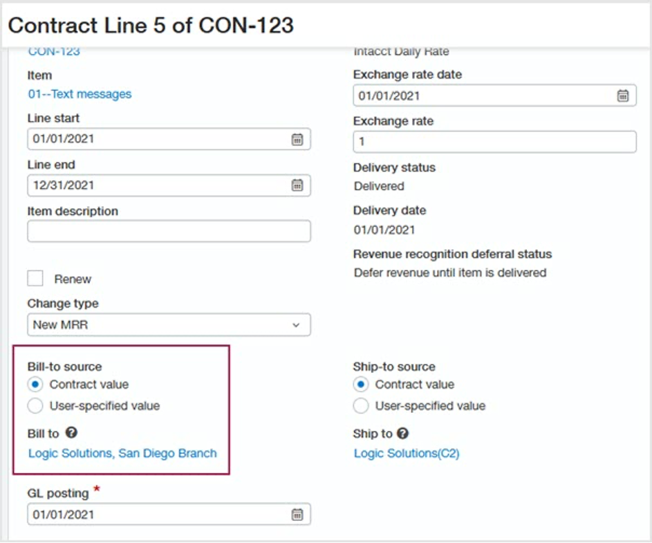 Sage Intacct 2021 R2 Contract Line