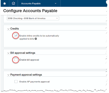 Sage Intacct AP Bills Payment Approval Workflow