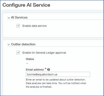 Sage Intacct Configure AI Service