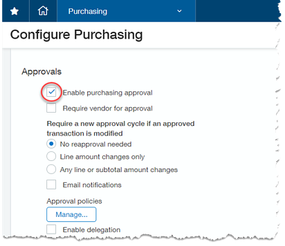 Sage Intacct Purchase Order Approval Workflow