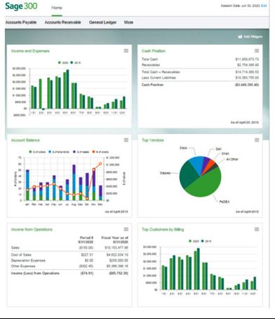 Sage 300c Homepage