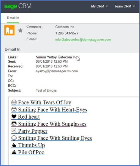 Sag CRM Email