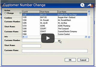 Customer Number Change - Watch Video