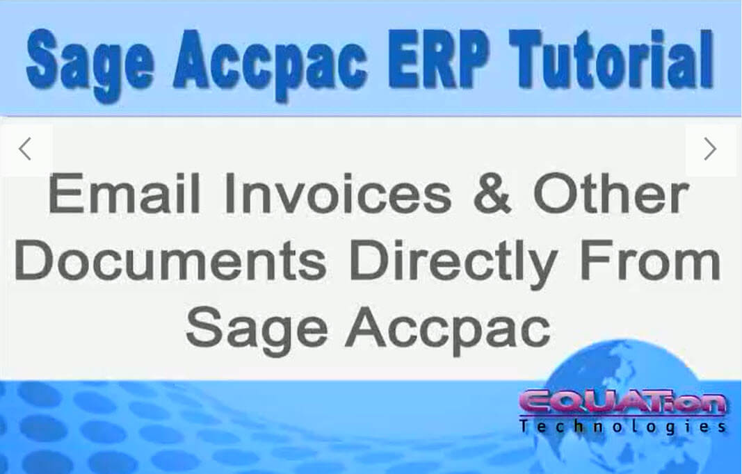 Emailing documents from Sage Accpac