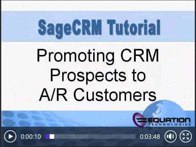 Sage CRM Promoting AR Customer
