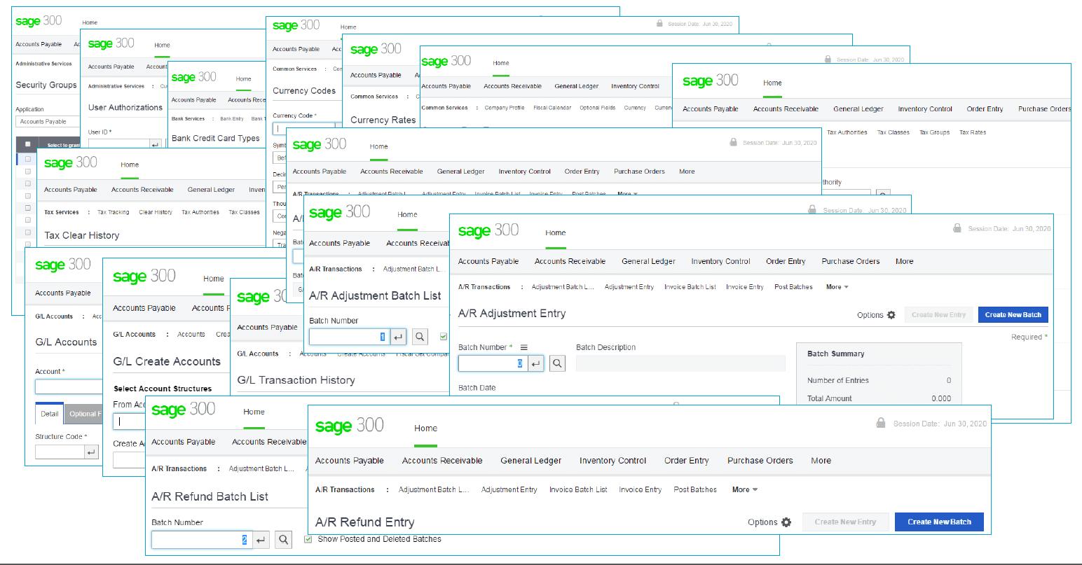 Sage 300 Web Screens