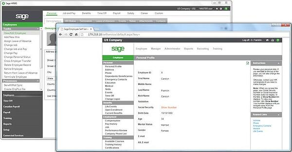 Employee Self-Service - Sage HRMS